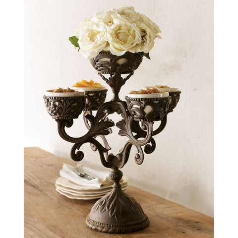 Make a statement & surprise your company  with the GG Acanthus designed Epergne! Display fruits, flowers, candles, finger-foods, sweet treats for all to see!