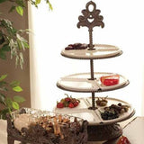 Make your desserts look fabulous with our GG Collection Acanthus Leaf 3 Tiered Server