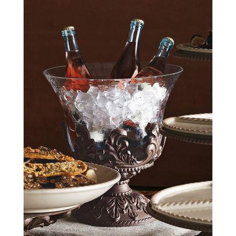 A substantial & beautiful glass beverage holder!