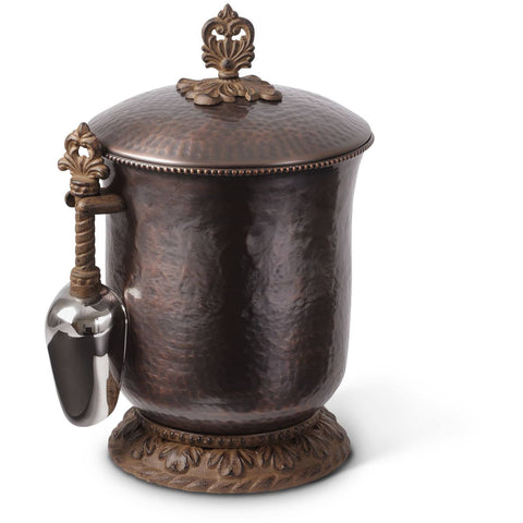 GG Collection Hammered Copper Ice Bucket with Scoop Bar Accessories