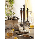 Add a bit of drama to your bar with our unique bar tool set with stand by the GG Collection!