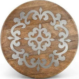 GG Collection Heritage Mango Wood w/Metal Inlay Lazy Susan
