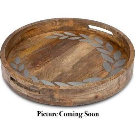 Add your initial to our Heritage Collection, handmade tray from Mango Wood with Metal Inlay.