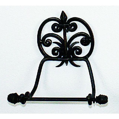 Fleur de Lis Accent Wall Tissue Holder to finish your Country French or French style bathroom!