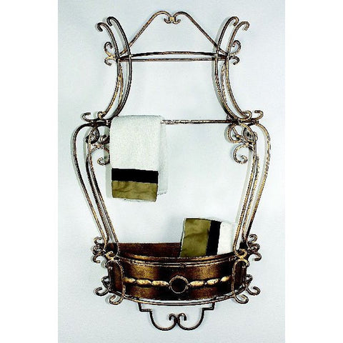 Antique Gold Wall Planter or Shelf is a beautiful addition to your bathroom decor!