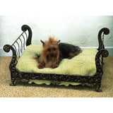 Faux Antique Brass Iron & Tole Pet Sleigh Bed will make your pet feel special with it's own 'real' furniture bed!
