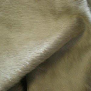 Natural Premium Cowhide in Solid Offwhite