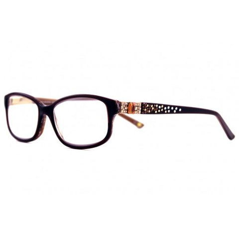 Designer Swarovski Crystal Cora Readers - Brown