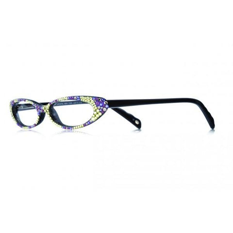 Designer Swarovski Crystal Contessa Readers - Black