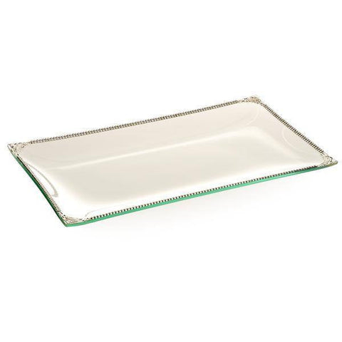 ALC Imperial Filigree Glass Rectangular 8 x 14 Tray