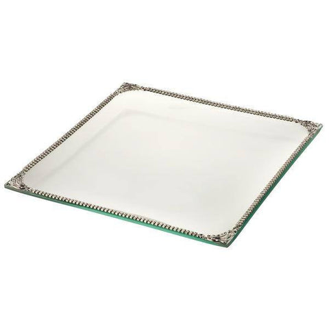 ALC Imperial Filigree Glass Square 9 x 9 Platter
