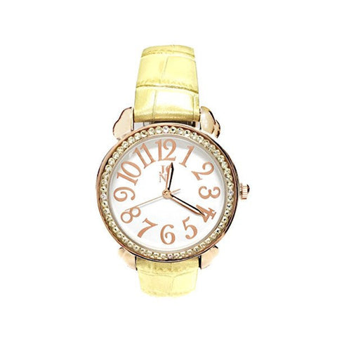 Designer Swarovski Crystal Abigail A Watch - Yellow