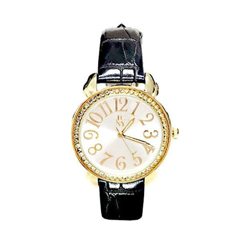 Designer Swarovski Crystal Abigail A Watch - Black