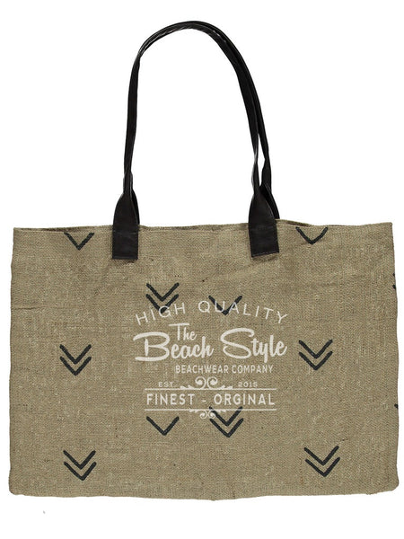 Silence Jute Beach Tote Bag