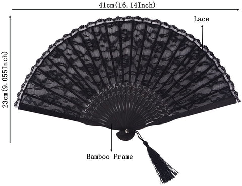 Aliexpress Handmade Cotton Lace Folding Fan