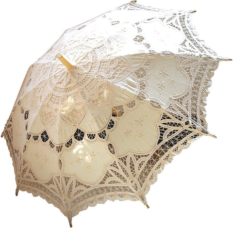 Aliexpress Lace Parasol Cream