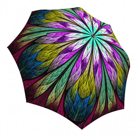La Bella Dragonfly Stained Glass Automatic Umbrella