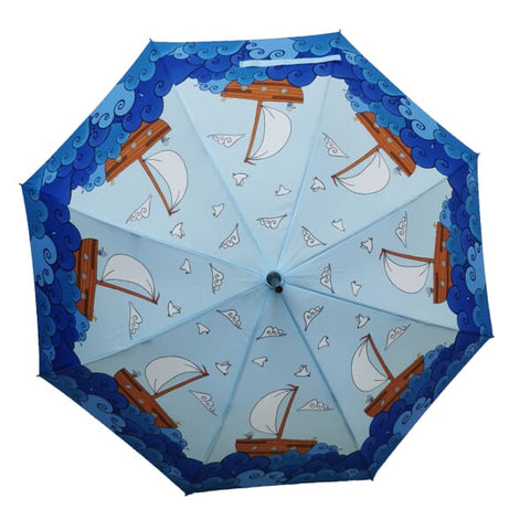 Soake Laura Wall Boats Design Stick Umbrella