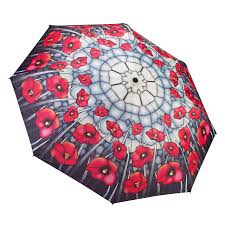 Soake Galleria Stained Glass Poppies Folding