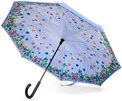 Totes InBrella Automatic Reverse Close Flower Garden Stick