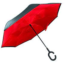 Soake Inside Out Plain Red Umbrella