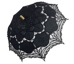 Aliexpress Lace Parasol Black