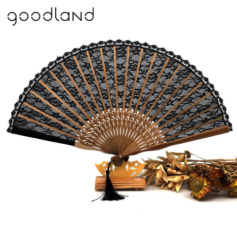 Aliexpress Hand Fan Black w Tassel