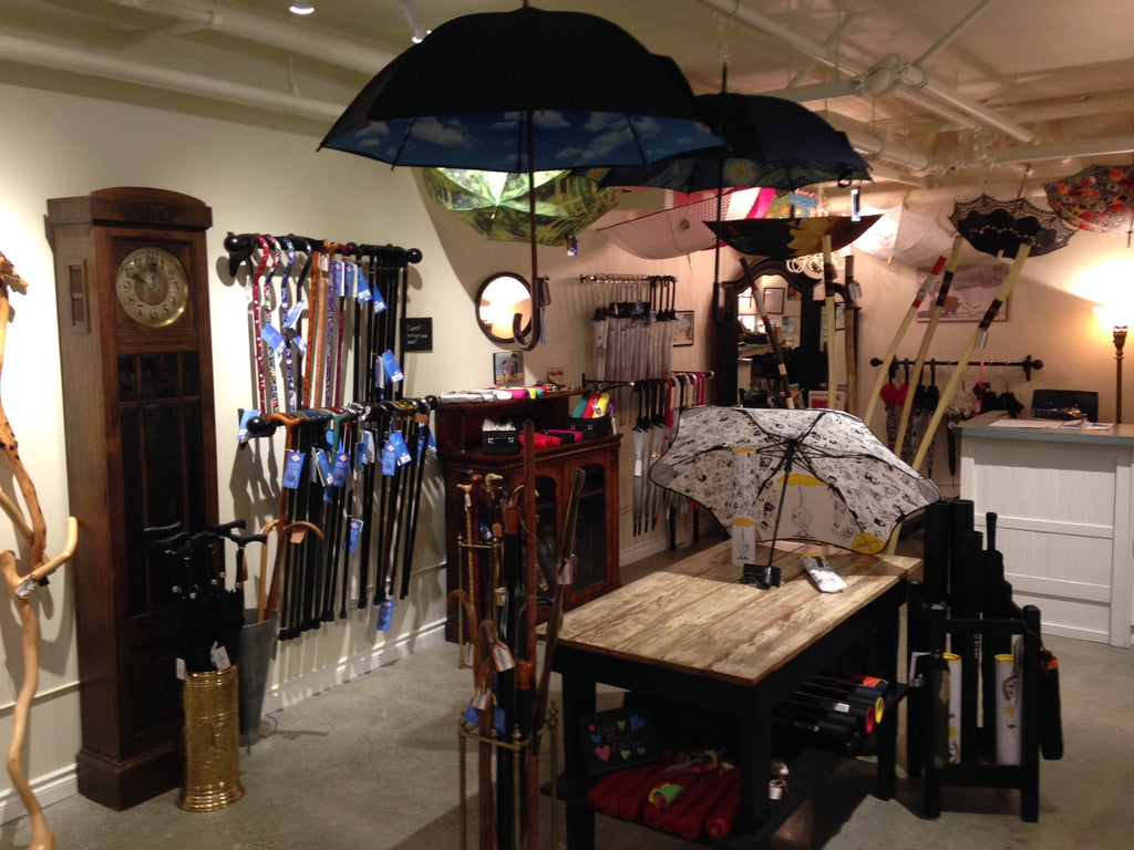 Umbrellas, parasols, canes and wallking sticks