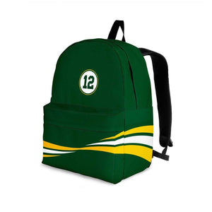 Designs by MyUtopia Shout Out:#12 Green Bay Fan Backpack