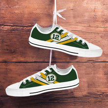 Load image into Gallery viewer, Designs by MyUtopia Shout Out:#12 Green Bay Fan Canvas Lowtop Shoes