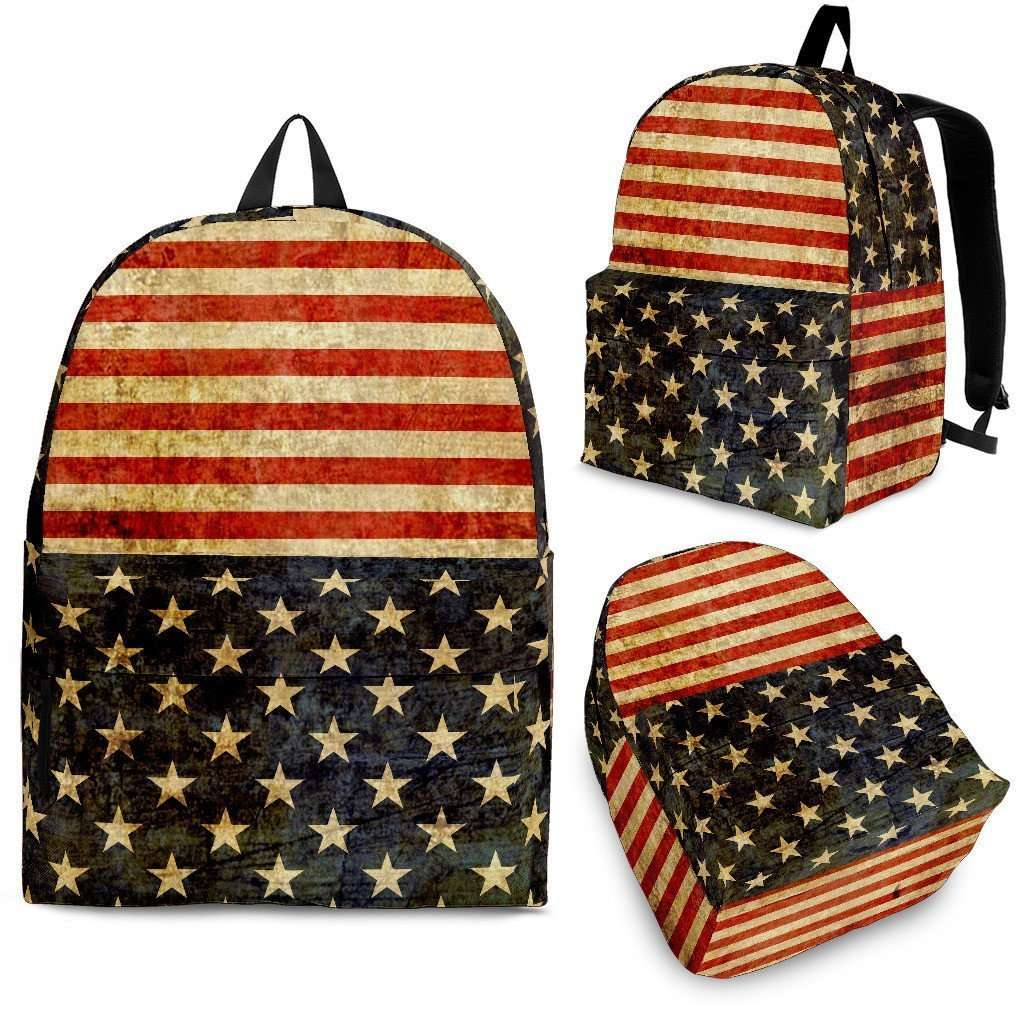 Designs by MyUtopia Shout Out:4th of July Backpack,Large (18 x 14 x 8 inches) / Adult (Ages 13+) / Red/Blue/White,Backpacks