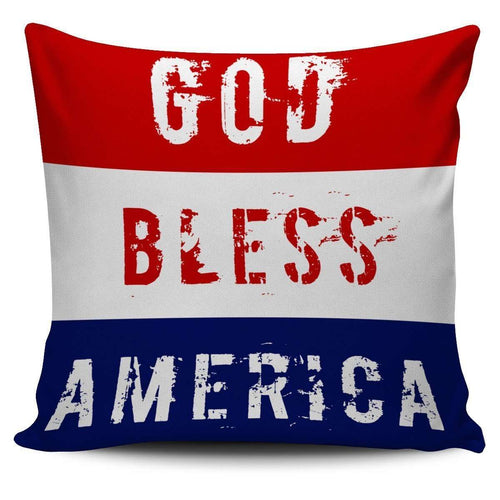 Designs by MyUtopia Shout Out:4th of July Pillow Covers Pillowcases,God Bless America / Red/Blue/White,Pillowcases