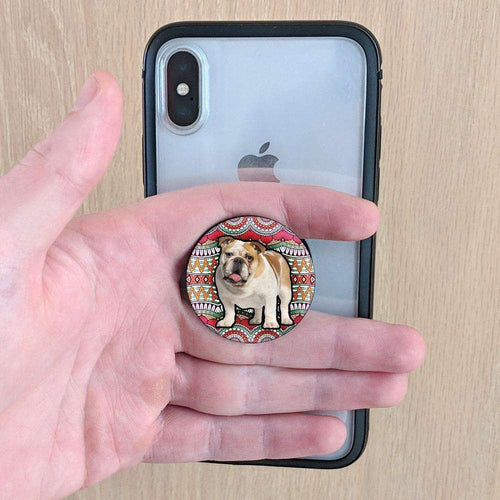Designs by MyUtopia Shout Out:60's style Bulldog Pop-out Phone Grip for Smartphones and Tablets