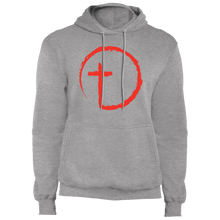 Load image into Gallery viewer, Designs by MyUtopia Shout Out:Abstract Cross Circle Core Fleece Pullover Hoodie,Athletic Heather / S,Sweatshirts
