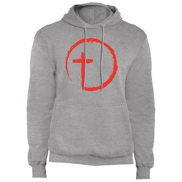 Designs by MyUtopia Shout Out:Abstract Cross Circle Core Fleece Pullover Hoodie,Athletic Heather / S,Sweatshirts