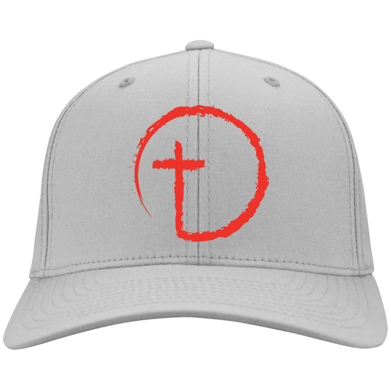 Designs by MyUtopia Shout Out:Abstract Cross Circle Embroidered Baseball Cap
