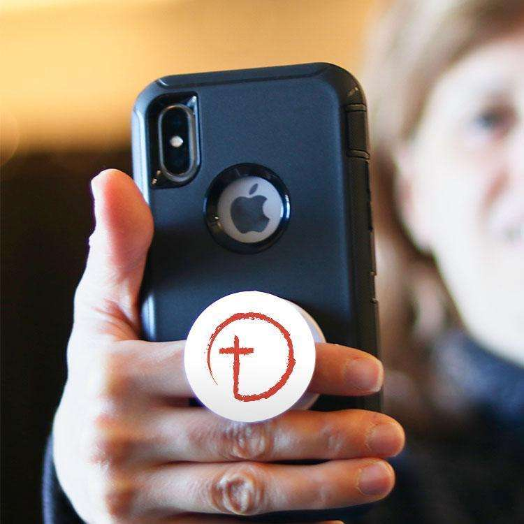 Designs by MyUtopia Shout Out:Abstract Cross Circle Hinged Phone Grip for Smartphones and Tablets