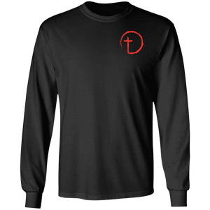 Designs by MyUtopia Shout Out:Abstract Cross Circle Long Sleeve Ultra Cotton T-Shirt,Black / S,Long Sleeve T-Shirts