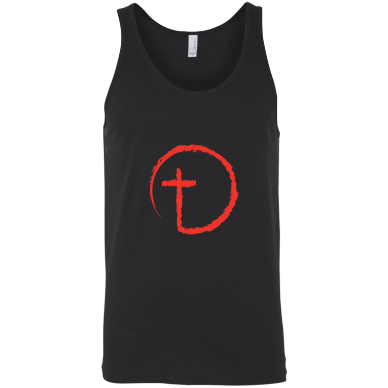 Designs by MyUtopia Shout Out:Abstract Cross Circle Unisex Tank,Black / X-Small,Tank Tops