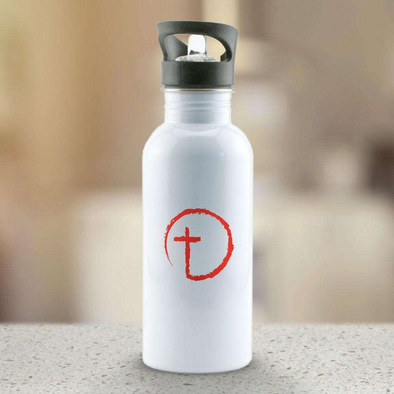 Designs by MyUtopia Shout Out:Abstract Cross Circle Water Bottle