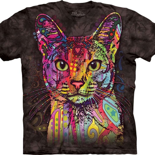Designs by MyUtopia Shout Out:Abyssinian Cat Dean Russo Art by The Mountain,Small / Black,Adult Unisex T-Shirt