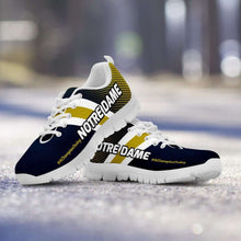 Load image into Gallery viewer, Designs by MyUtopia Shout Out:#AChampionToday Notre Dame Fan Running Shoes