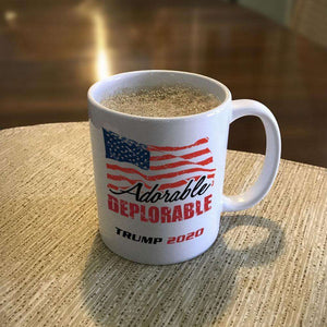 Designs by MyUtopia Shout Out:Adorable Deplorable Trump 2020 Ceramic Coffee Mug