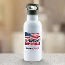 Load image into Gallery viewer, Designs by MyUtopia Shout Out:Adorable Deplorable Trump 2020 Water Bottle
