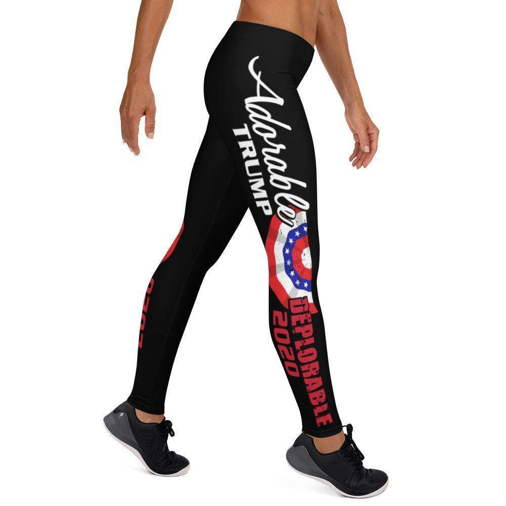 Designs by MyUtopia Shout Out:Adorable Deplorable Trump 2020 Yoga Leggings