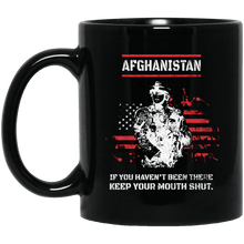 Load image into Gallery viewer, Designs by MyUtopia Shout Out:Afghanistan Veteran Ceramic Coffee Mug - Black,11 oz / Black,Ceramic Coffee Mug