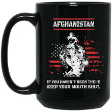 Load image into Gallery viewer, Designs by MyUtopia Shout Out:Afghanistan Veteran Ceramic Coffee Mug - Black,15 oz / Black,Ceramic Coffee Mug