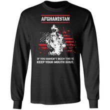 Load image into Gallery viewer, Designs by MyUtopia Shout Out:Afghanistan Veteran Long Sleeve Ultra Cotton T-Shirt,S / Black,Long Sleeve T-Shirts