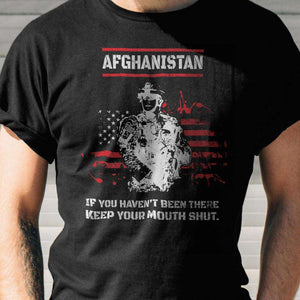 Designs by MyUtopia Shout Out:Afghanistan Veteran Unisex Jersey Short-Sleeve T-Shirt