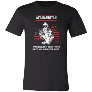 Designs by MyUtopia Shout Out:Afghanistan Veteran Unisex Jersey Short-Sleeve T-Shirt,X-Small / Black,Adult Unisex T-Shirt